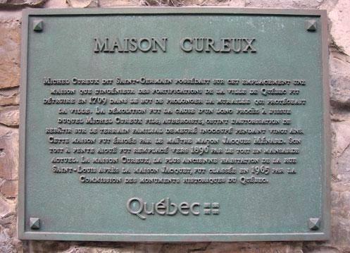 plaque commémorative Maison Cureux